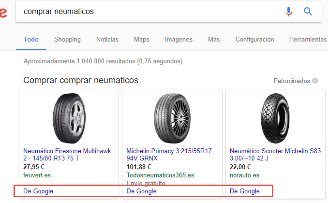 shopping de google